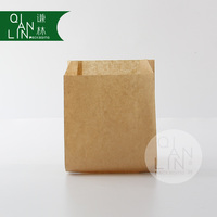Cheap Plain Kraft paper bag for packing fried food