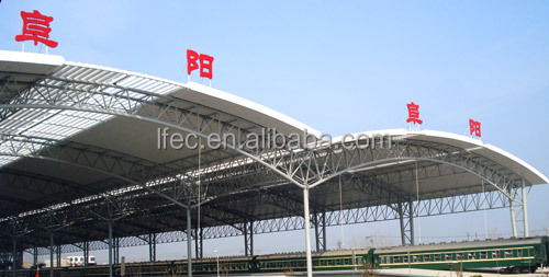 Metal Roof Canopy Stainless Steel Railway Station Steel Structure