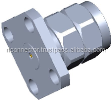 2.4mm male 4 hole Field Replaceable Flange Connectors