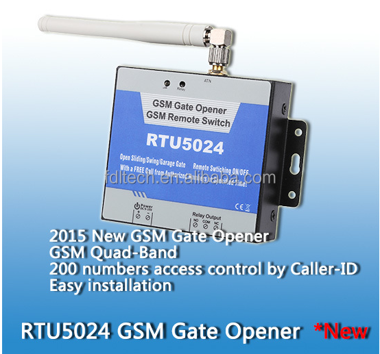 automatic door opener , Gprs Gate Opener Products, access controller Up to 200 authorized phone numbers,RTU 5024