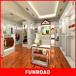 Customized fashionable modern cheap cloth store furniture for sale