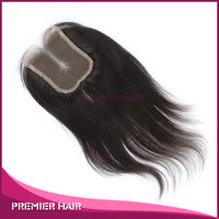 stock natural straight 100% indian remy human hair lace closure 4 by 4