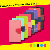 Dual color wallet PU leather cell phone case for iphone 6/6s/6 plus/6s plus/5s, for iphone 6 leather case