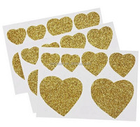 Lovely Heart Shaped EVA Foam Glitter Stickers on Sheet