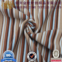 Dark brown and white yarn dyed thermal rib knit fabric