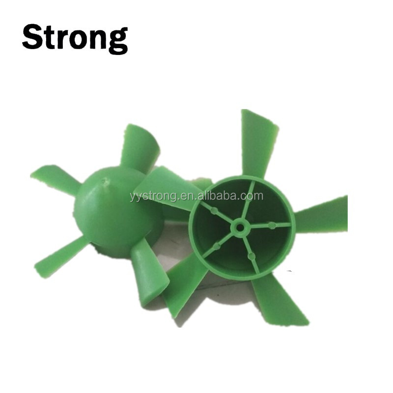 Multicolor and small plastic fan blades/mini plastic fan made by real plastic manufacturer