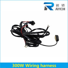 High Quality 300w Universal On / Off Switch Off Road LED Work Light Bars Wire Harness led light bar control wire,led work light