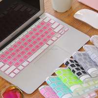 "JRC Silicone Keyboard skins Protector for Macbook Air 11"" 13"", PRO 13"" 15"", Mixed Color, US Layout"