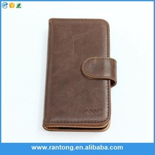 Newest product OEM design flip pu leather genuine leather phone case fast shipping