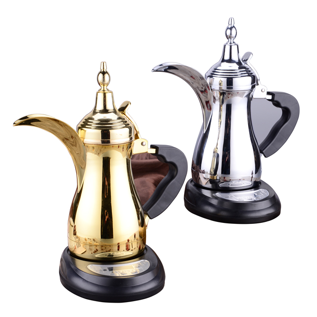 400ml 600ml 1000ml Stainless Steel Turkish Dallah Arabic Coffee Pot