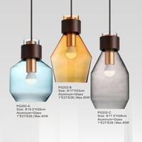Wall Hanging Industrial Lamps American Country Style Glass Ball Pendant Lights