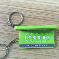 2d cheap customized pvc embossed key chain