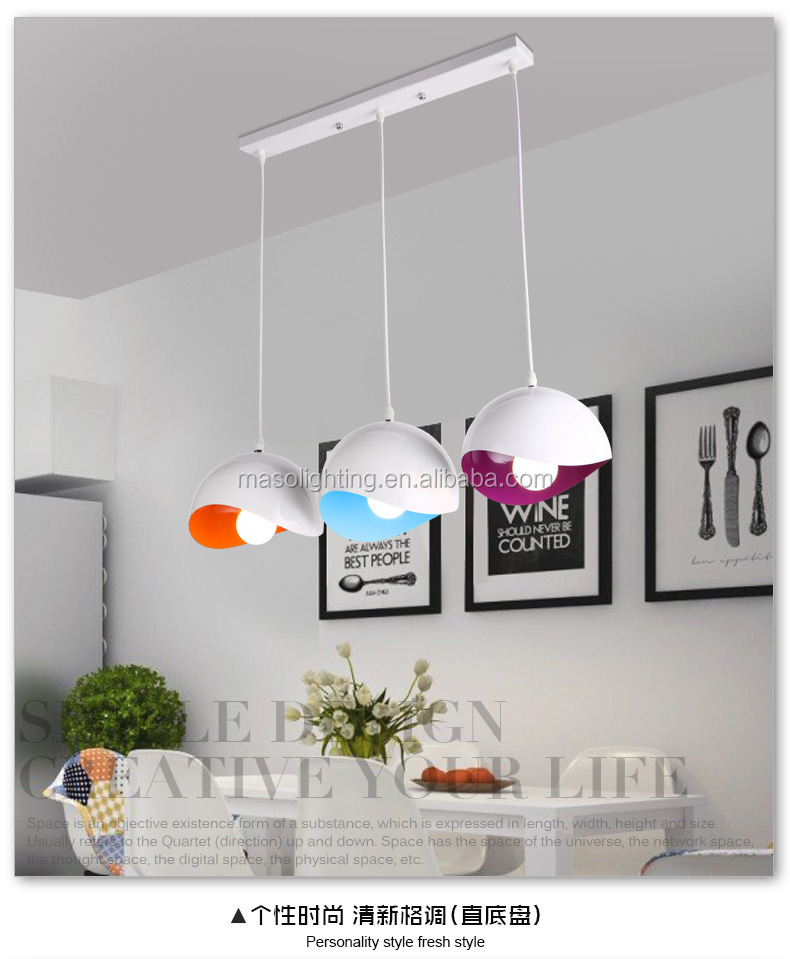 Modern dome light Metal colorful Simple pendant lamp Nordic hanging lamp for dinning room resturant coffee shop decor