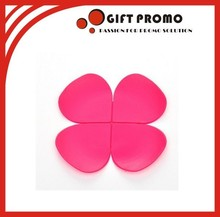 Pink Colour Silicone Cup Coaster