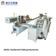 Full automatic facial tissue /pocket tissue folding machine production line