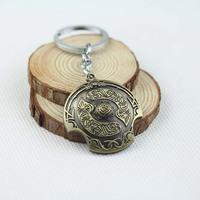 Hot Online Game Dota 2 Immortal Scudetto Shield Vintage Metal Keychain