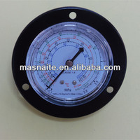 black steel flange bourdon type refrigeration pressure gauge/manometer