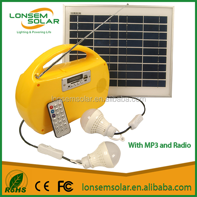 Off Grid Solar System Portable Solar Lighting Kits Mini Solar Light For Africa With MP3 and Radio