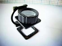 New 20X Portable Foldable Magnifier Stand Magnifying Glass Lens Loupe Measure Scale