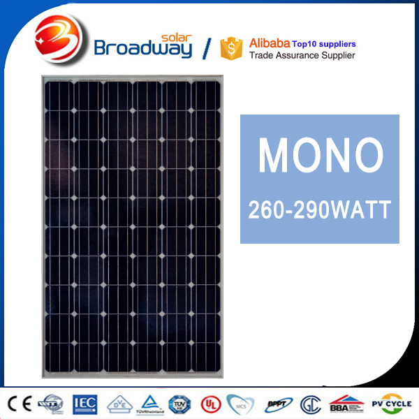 Solar Power System Mono Solar Panel 260W 60KW Grid Tie Solar Panels Commercial Use