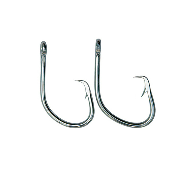 Stainless steel tuna circle fishing hook for longline fishing
