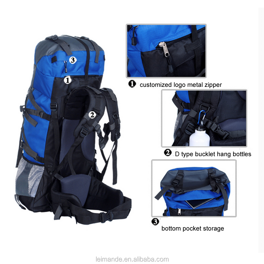 topping quality Hiking Backpack 80L Weekend Pack include Waterproof Rain Cover and Laptop Compartment for Camping outdoor Travel