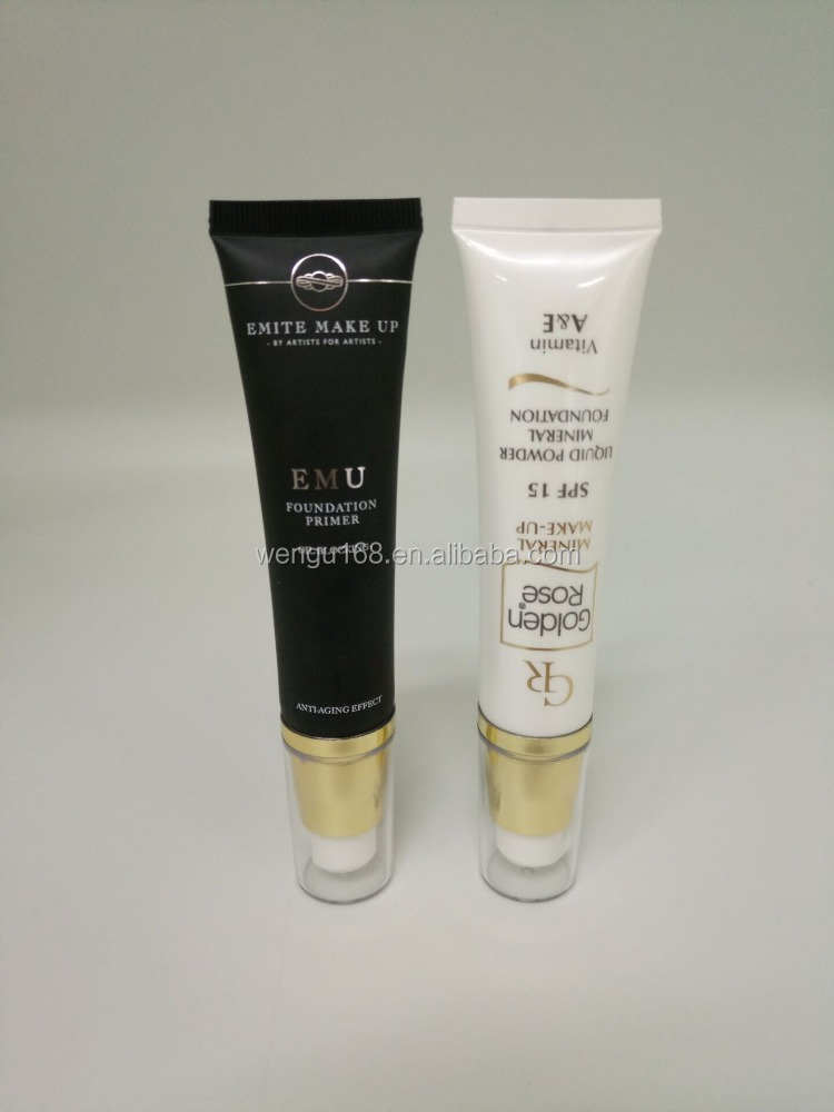 Dia 25mm 35ml cosmetic tube with Airless pump screw cap,personal care products tube,soft plastic tube or bb cream