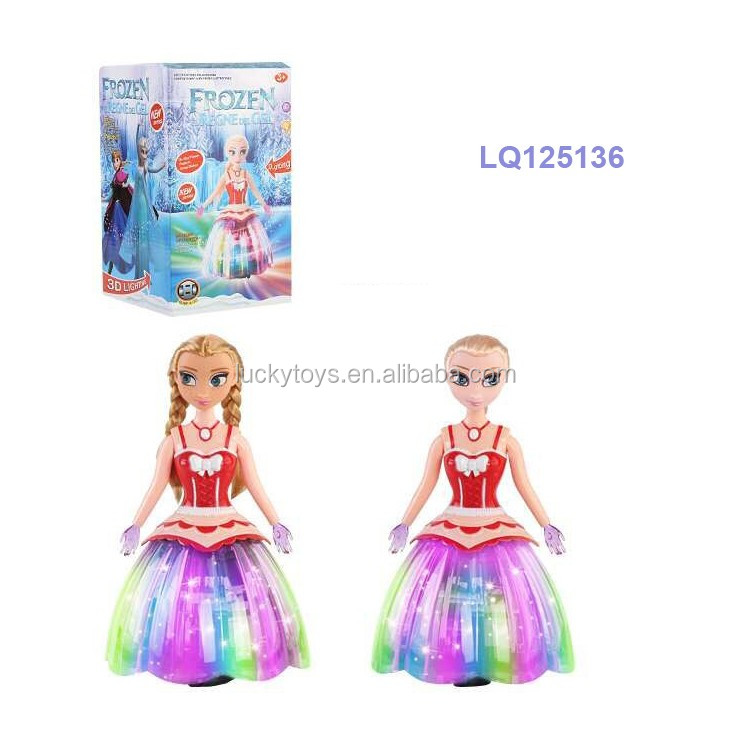 beautiful electric toy dancing princess with light