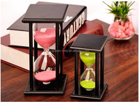 15mins/30mins/45mins/60mins hourglass timer with wood frame