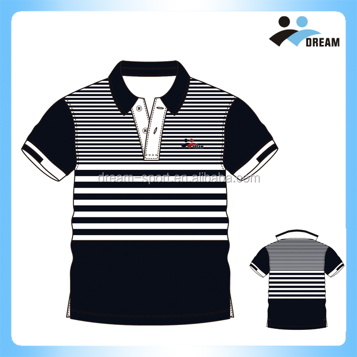 Customized Patterns 2017 Wholesale 100% Polyester Sublimation men polo t shirt