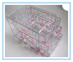 A4 PAPER metal wire &plastic storage drawer