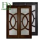 Used Commercial Tempered Glass Insert Entry Wooden Doors