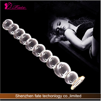 2014 Hot sale newest Glass Crystal Special adult sex product vibration back massage real feeling first time sex