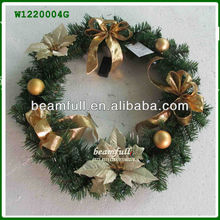 2013 artificial Christmas wreath decoration for sale W1220004G
