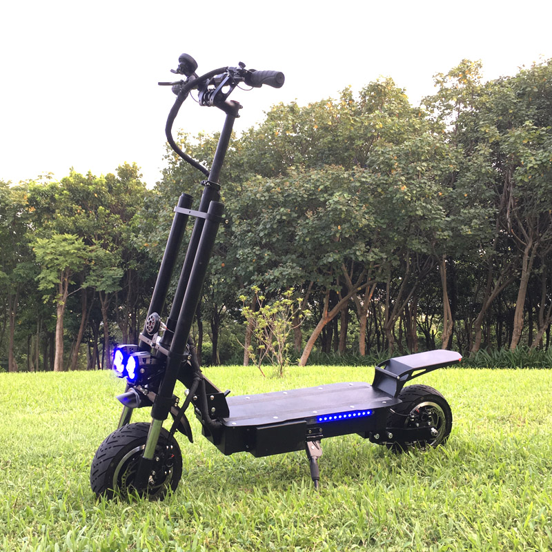 New Arrival 11inch 2 Motors 5600W Dual Motors <strong>Electric</strong> Scooter with seat for Adults