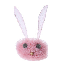 Wholesale fashion girl's bowknot hairband baby colorful ribbon rabbit ears headband