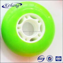 High quality geen PU Inline hockey Skate Wheel with white PP core in 80x24mm