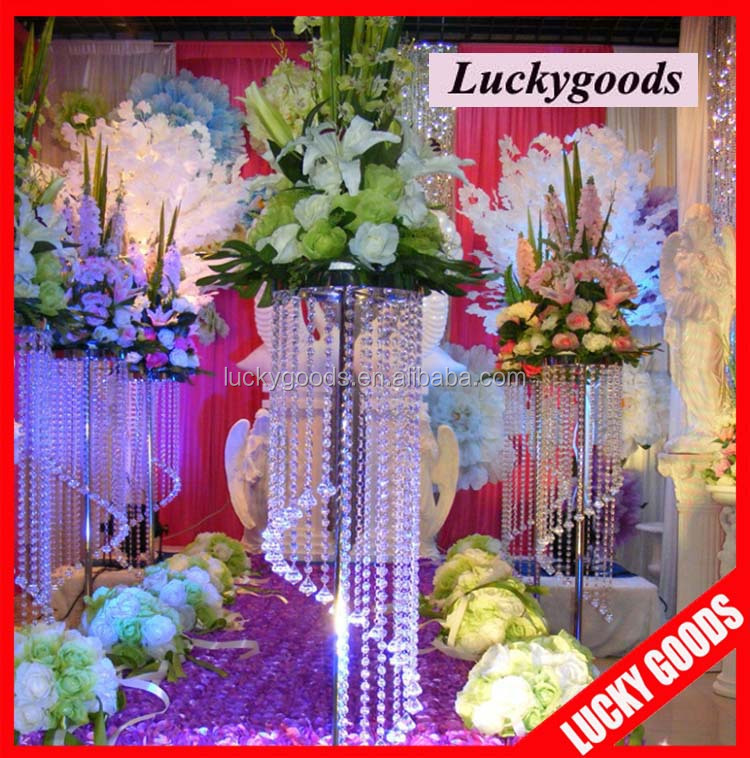 Elegant wedding centerpiece crystal flower display stand for sale