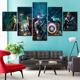 5 panel super hero Canvas art printing interior decorative beautiful wall painting unframed artwork wholesale