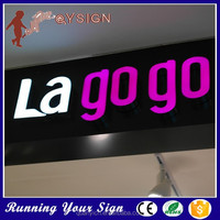 Hotsale storefront light up epoxy resin cutting led letter signs