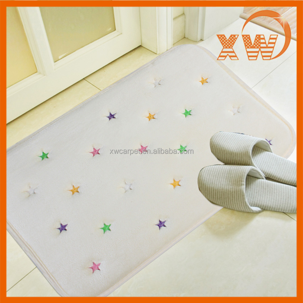 New style Mordern Memory Foam embroidery design bath mats and rugs
