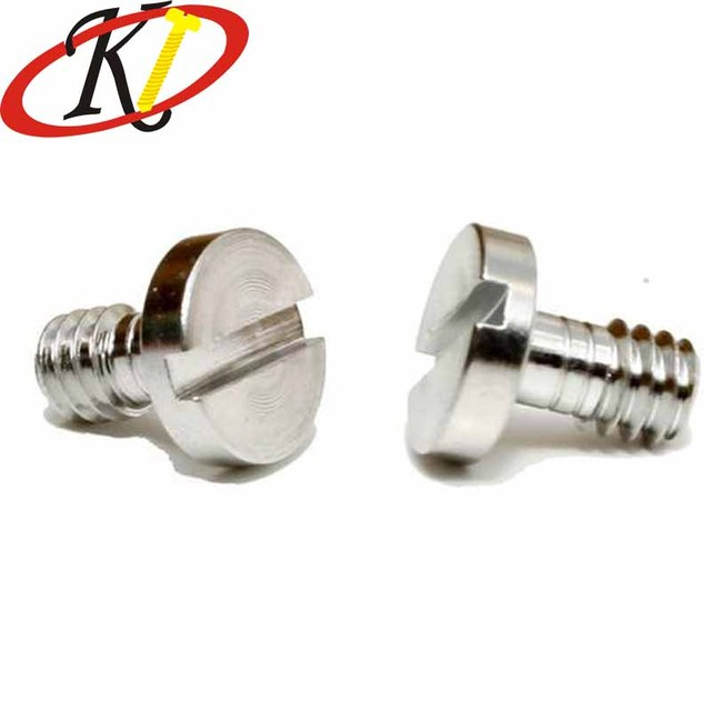 Chinese Fastener Manufacture Big Head Slotted Stainless Steel Captive Screw