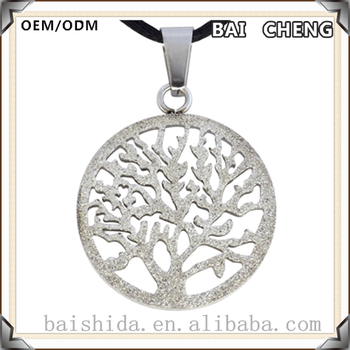 Best selling Original design Tree pendant Luck stainless steel necklace