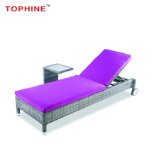 TOPHINE Outdoor Aluminum Frame Luxury Wicker Woven Swimming Pool Lounge Chair