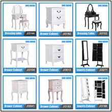 Factory Wholesale New Designs Modern Antique White Black Wood Bedroom Furniture