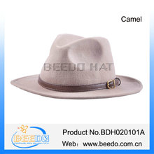 High grade cowboy hats flat brimmed made in mexico