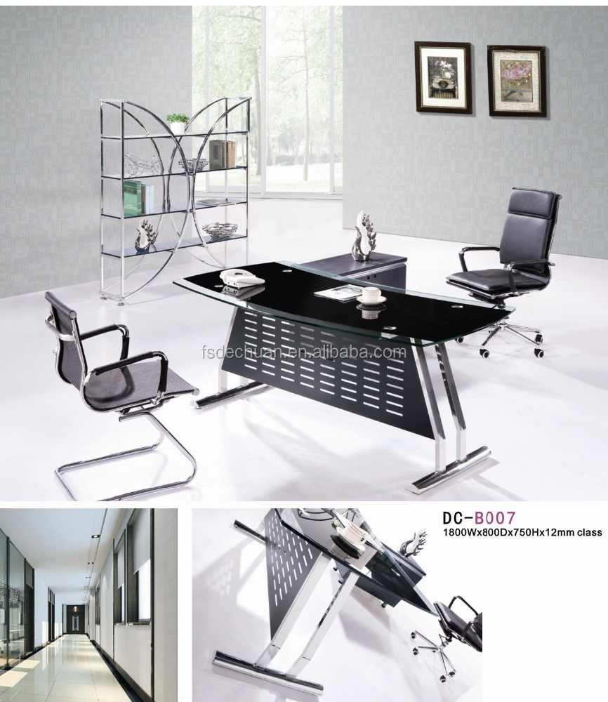 Modern furniture glass executive office desk with cheap price