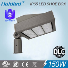 UL DLC List IP65 150W LED Shoebox Lamp for tennis court lighting