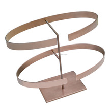 fashion store champagne rose gold leather belt stand display rack wholesale