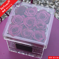 Square Acrylic Rose Box Packing Luxury / Flower Box